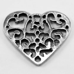 H38 - Flat Filigree Heart