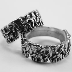 X017 - Ring - 2 Elephants